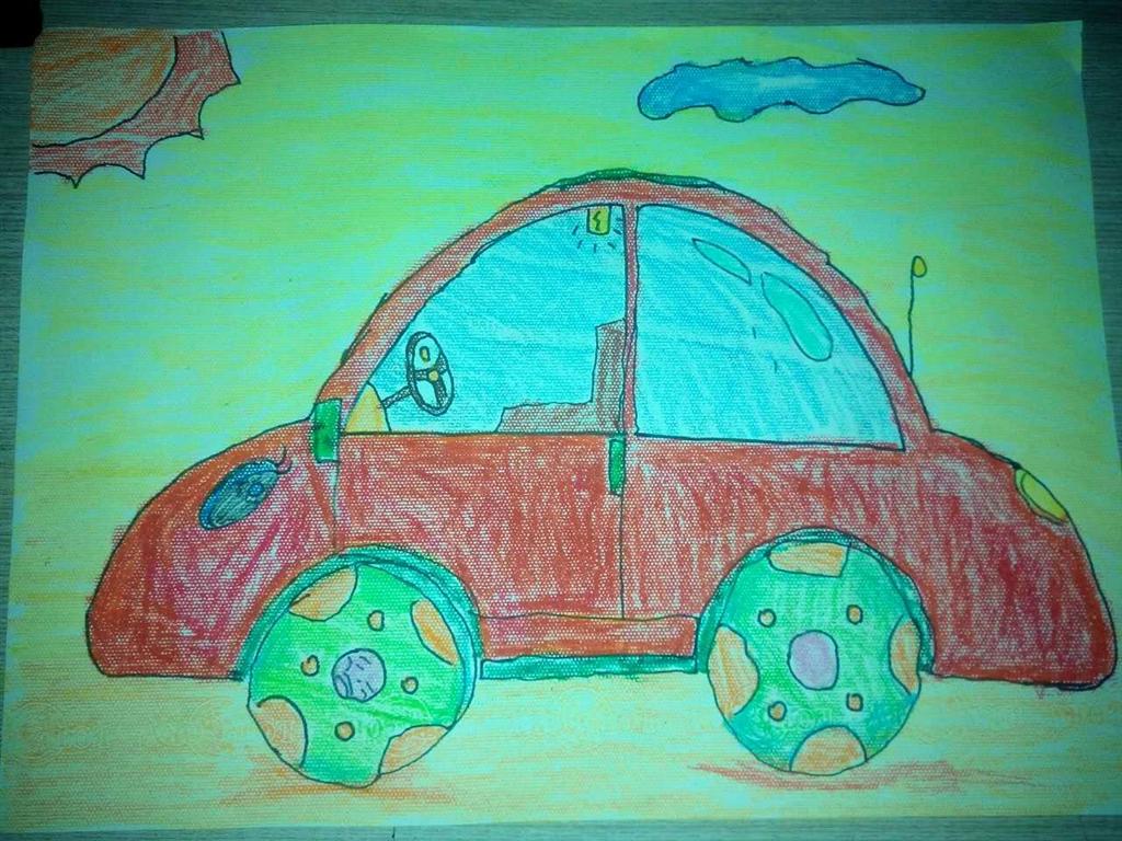 幼儿创意汽车画